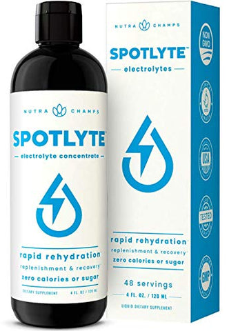 Electrolyte Supplement for Rapid Hydration | NO Calories NO Sugar | 50% More Potassium, Magnesium & Zinc | 48 Servings | Keto Electrolytes Drops | Energy, Recovery & Immune Support Liquid Drink Mix