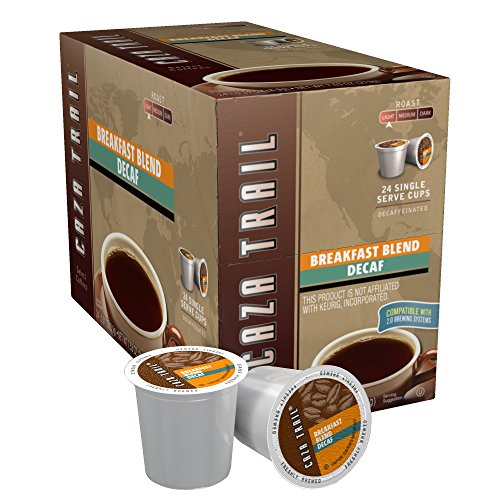 Caza Trail Coffee, Decaf Breakfast Blend, 24 Single Serve Cups