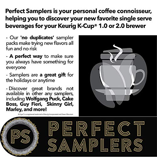 Crazy Cups Flavored Coffee Pod Variety Pack   40 Unique Flavors Of Chocolate, Vanilla, Caramel, & Mo