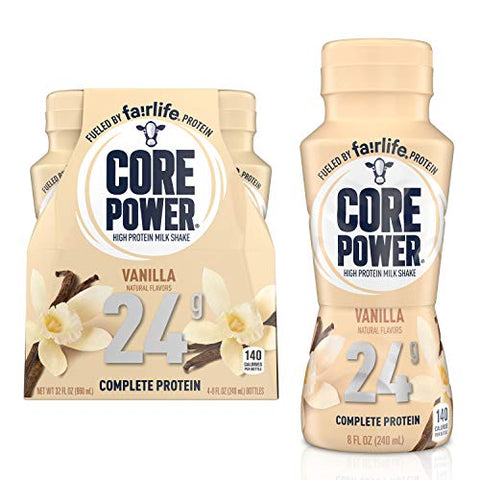 Core Power High Protein Shake, Vanilla, 8 Fl oz (Pack of 4)