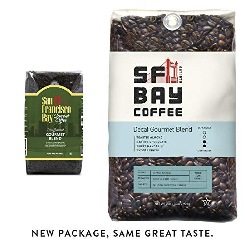 Sf Bay Coffee Decaf Gourmet Blend Whole Bean 2 Lb (32 Ounce) Medium Roast Swiss Water Processed