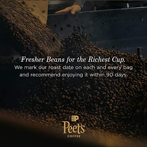 Peet's Coffee Major Dickason's Blend, Dark Roast Whole Bean Coffee, 12 Ounce Bag
