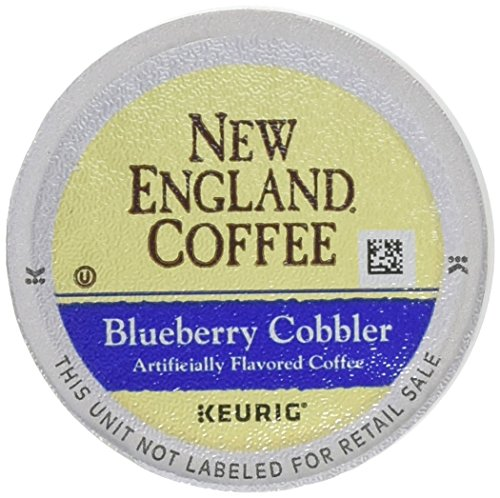 New England Coffee Blueberry Cobbler, Single Serve Coffee K Cup Pods, Medium Roast, 12 Count (Pack Of