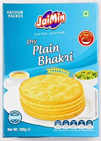 Jaimin Dry plain Bhakri - 200g - (pack of 4)