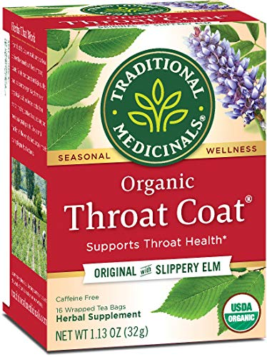 Traditional Medicinals Organic Throat Coat Seasonal Tea, 16 Tea Bagsã'â (Pack Of 6)