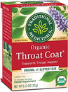 Image of Traditional Medicinals Organic Throat Coat Seasonal Tea, 16 Tea Bagsã'â (Pack Of 6)
