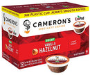 Image of Cameron's Coffee Single Serve Pods, Flavored, Decaf Vanilla Hazelnut, 12 Count (Pack of 6)