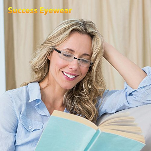 Reading Glasses Set of 2 Rimless Ultra Lightweight Readers Comfort Glasses for Reading for Men and Women +2