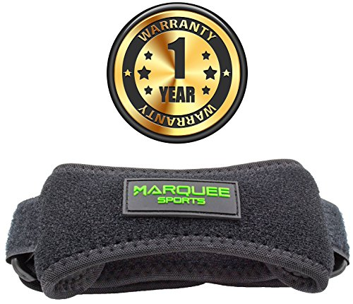 Marquee Sports Patella Knee Strap for Running, Basketball, and Hiking by Adjustable Patellar Tendon Pain Relief and Support Brace from Jumper's Knee, Chondromalacia, and Tendonitis/Pink