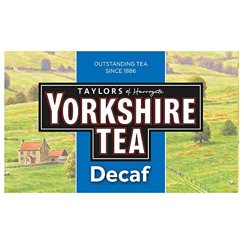 Yorkshire Tea Decaffeinated Tea Bags 250 g (Pack of 5)