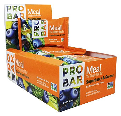 ProBar Meal Superberry & Greens - 12 Bars