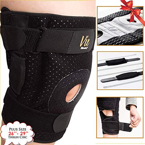 Hinged Knee Brace Plus Size â?? Newly Engineered Knee Braces With Flexibility, Extra Supportive, Non