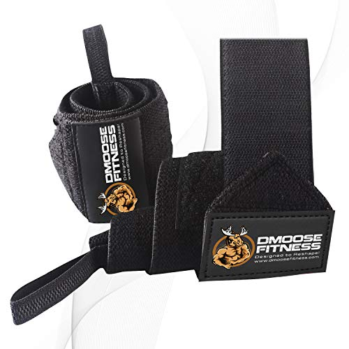 D Moose Fitness Wrist Wraps For Weightlifting, Powerlifting, Barbell Strength Training, Benching, Bod