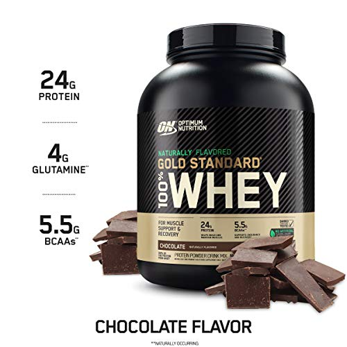 Optimum Nutrition Gold Standard 100% Whey Protein Powder, Naturally Flavored