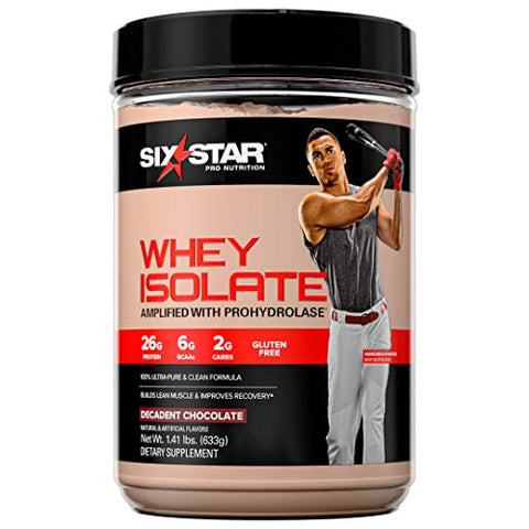 Whey Protein Isolate | Six Star 100% Whey Isolate Protein Powder | Whey Protein Powder for Women & Men | Post Workout Muscle Recovery + Muscle Builder | Chocolate Protein Powder (20 Servings)