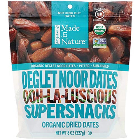 Made In Nature Dates Deglet Noor Org - 8 OZ (Pack of 2)
