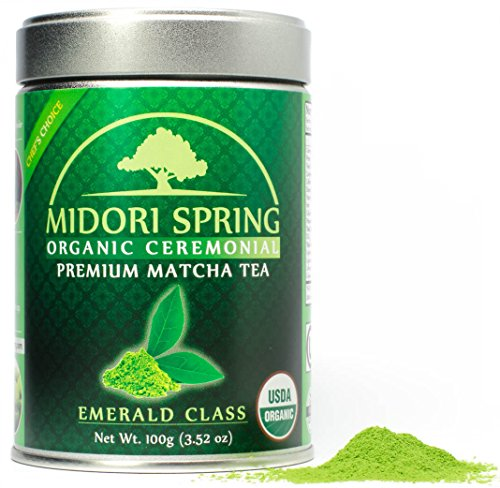 Midori Spring Usda Organic Ceremonial Matcha   Emerald Class   Chef's Choice Quality Japanese Matcha