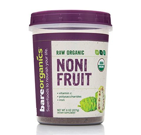 BAREORGANICS Noni Fruit Powder, 8 Ounce
