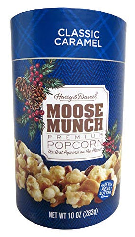 Harry & David Moose Munch Classic Caramel Premium Popcorn 10oz Holiday Canister