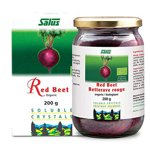 FLORA - Organic Red Beet Crystals, Highly Soluble, Nitric Oxide, by Salus, 7 Oz
