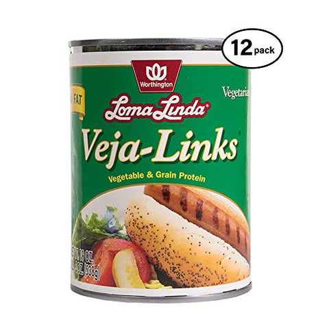 Loma Linda - Plant-Based - Low Fat Veja-Links (19 oz.) (Pack of 12) - Kosher