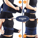 Image of Back Support Lower Back Brace Provides Back Pain Relief   Breathable Lumbar Support Belt For Men And