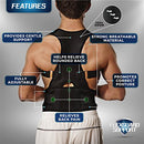 Image of Back Brace Posture Corrector XL | Best Fully Adjustable Support Brace | Improves Posture and Provides Lumbar Support | For Lower and Upper Back Pain | Men and Women (Extra Large)