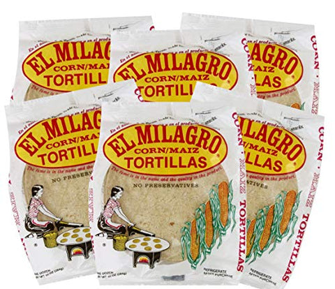 El Milagro Classic Corn Maiz Natural Soft Tortillas - 6 Pack