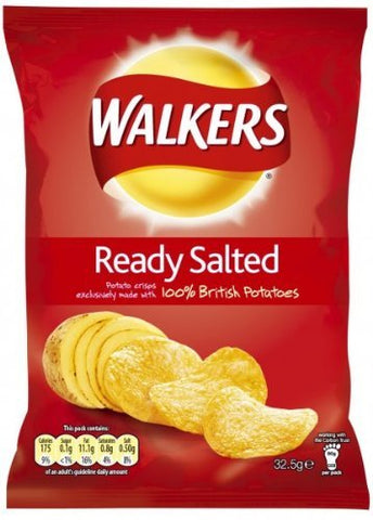 Walkers Crisps Ready Salted 48 x 32,5g