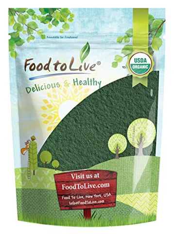 Organic Chlorella Powder, 1 Pound  Non-GMO, Kosher, Raw Green Algae, Vegan Superfood, Bulk, Pure Vegan Green Protein, Rich in Vitamins and Minerals, Great for Drinks, Teas and Smoothies