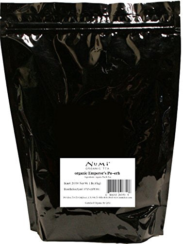 Numi Organic Tea Emperor's Pu-erh, 16 Ounce Pouch, Loose Leaf Black Tea (Packaging May Vary)