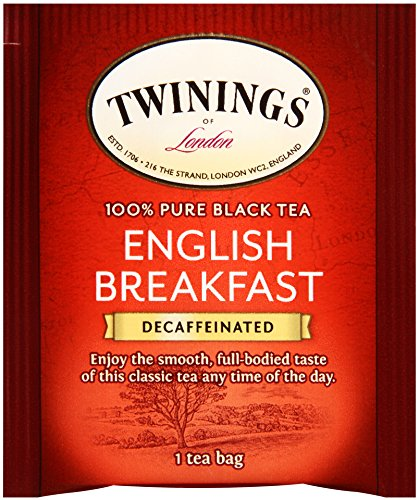 Twinings of London Decaffeinated English Breakfast Tea, 20 Count (Pack of 6)
