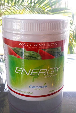 Genesis Pure Energy with Wheat Grass Watermelon Sugar-Free Powder Mix Dietary Supplement Net Wt. 9.5 oz (270g)