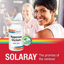 Image of Solaray Magnesium Glycinate 400 Milligram | May Support Bone and Cardiovascular Health | Enhanced Absorption | Lab Verified |VegCaps (240 Count)