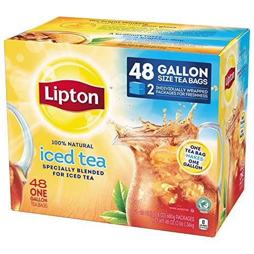 Lipton Gallon Sized Iced Tea Bags Picked At The Peak Of Freshness Unsweetened Can Help Support A Hea