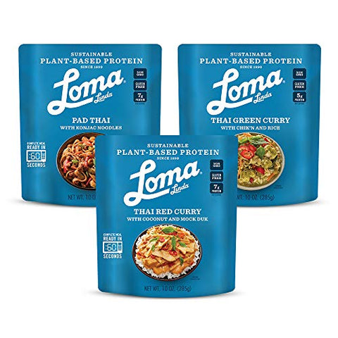 Loma Linda Taste of Thailand Variety Pack Meals - Perfect For 2 People (10 oz.) (Pack of 6)