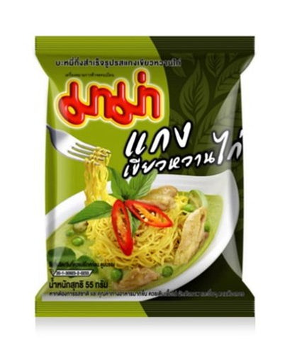 Instant Mama Noodles Thai Chicken Green Curry Flavor - Pack of 6
