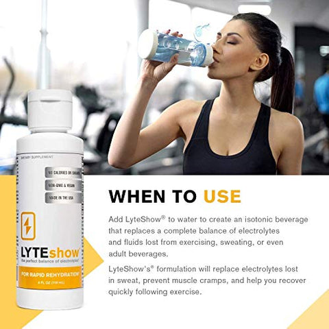 LyteShow Sugar-Free Electrolyte Supplement for Hydration and Immune Support - 50 Single Servings - Keto Friendly - Zinc and Magnesium for Rapid Rehydration, Workout, Muscle Recovery and Energy - Vegan
