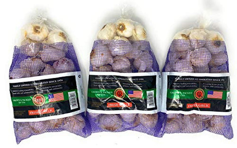 3 Pounds Fresh Garlic USA California Grown Gilroy Finest (Pack of 2)