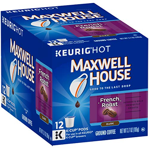 Maxwell House French Roast Keurig K Cup Coffee Pods (12 Count)