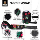 Image of DMoose Fitness Wrist Wraps - Premium Quality, Strong Fastening Straps, Thumb Loops - Maximize Your Weightlifting, Powerlifting, Bodybuilding, Strength Training & Crossfit ...