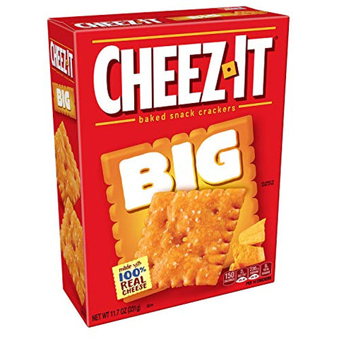 Cheez-It, Baked Snack Cheese Crackers, Extra Big, 11.7oz Box