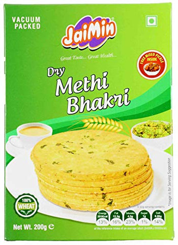 Jaimin Dry Methi Bhakri - 200g - (pack of 4)