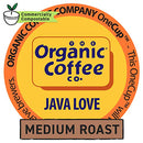 Image of The Organic Coffee Co. Java Love 12 Ct Medium Light Roast Compostable Coffee Pods, K Cup Compatible
