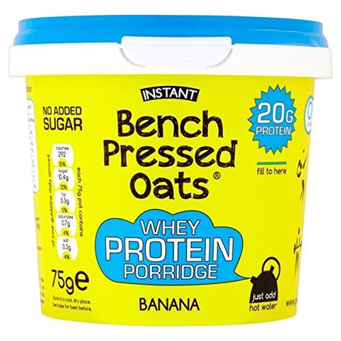 OOMF! Bench Pressed Oats High Protein Banana 75g - Pack of 2