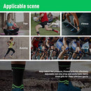 Image of VANWALK Ankle Brace Compression Support Sleeve (Pair) for Plantar Fasciitis Arch Tendon Support, Eases Heel Spurs Sprained Ankle Swelling Joint Pain (Green, M)