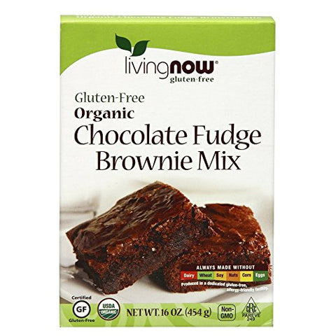 NOW Foods, Organic Chocolate Fudge Brownie Mix, Gluten-Free and Non-GMO, 16-Ounce