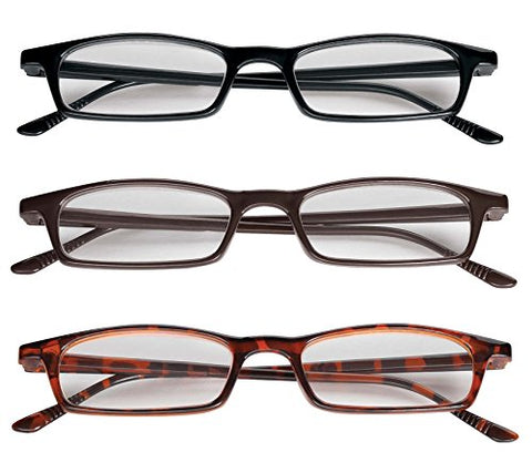 3 Pair Value Pack Reading Glasses - Magnification 1.50X