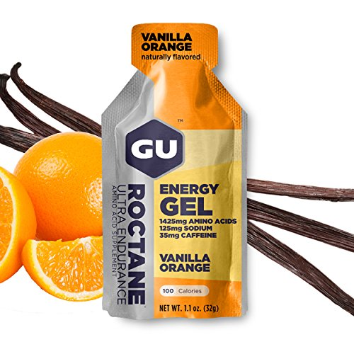 Gu Energy Roctane Ultra Endurance Energy Gel, 24 Count, Vanilla Orange