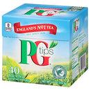 Image of Pg Tips Premium Black Tea For A Classic Caffeinated Beverage,Pyramid Black Tea Bags,40 Count (Pack O
